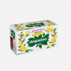 علبة الشاي الاخضر بالزنجبيل والليمون 20 كيس دوغادان