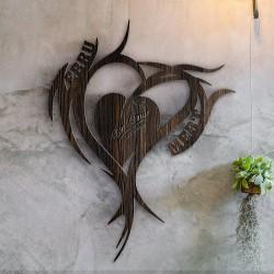 ديكور حائط رومانسي